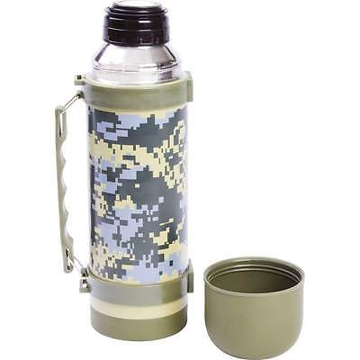 1L (34oz) Camo Stainless Steel Double Wall Vacuum Bottle Thermos Hot Soup Coffee