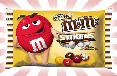 Crispy M&M's S'mores LIMITED EDITION Chocolate Candies by Mars 8OZ