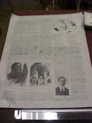 original vintage 1908 toronto globe and mail printing plate native americans