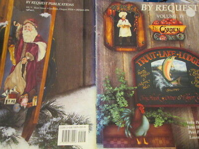 By Request Painting Book #4(IV)-Combined Artists-Santa/Trout/Chef/Rooster/Garden