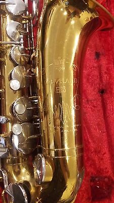 1955 Cleveland King 613 Saxophone With Case For Parts Or Repair