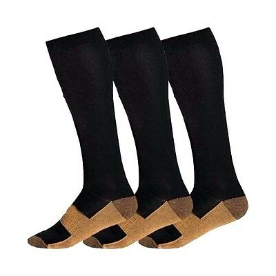 Copper Compression Socks 20-30mmHg Graduated Support Men's Women's 3 Pairs S-XXL