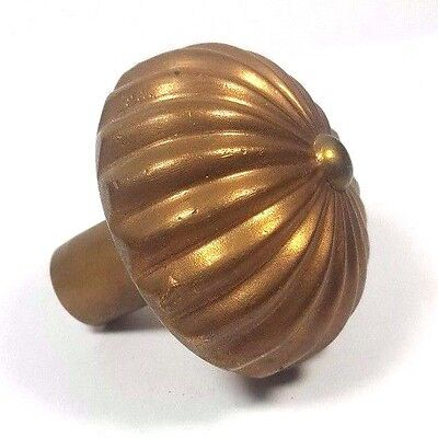~~~ Collectible Antique Fluted Brass Doorknob Victorian Fancy Door Knob Hardware