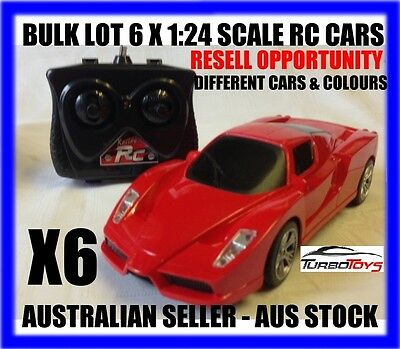 Bulk Lot Of 6 X Rc 1/24 Ferrari & Lamborghini Cars - Resell Oppor - Aus Seller