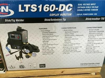 Sale ! Coplay-Norstar LTS-160 Stick and Tig Welding Dual Voltage Machine
