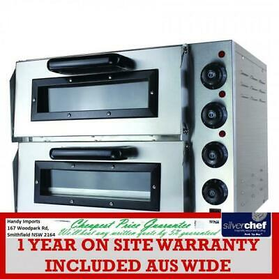 Fed Commercial Compact Double Pizza Deck Oven Bakery Sweets Bread Sweet Ep2S