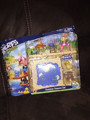 The Smurfs Micro Village Summer Season Set Sealed New
