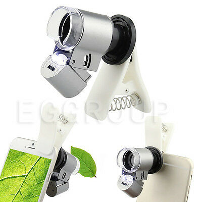 NEW Universal 65X Optical Zoom LED Camera Microscope Lens+Clip For Cell Phones