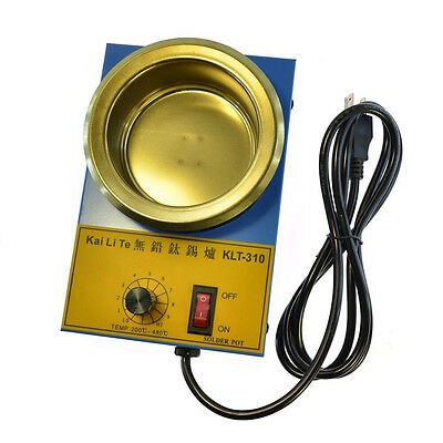 220V Solder Pot Tin Melting Furnace Thermoregulation 100mm 200 - 450 Degree 300W