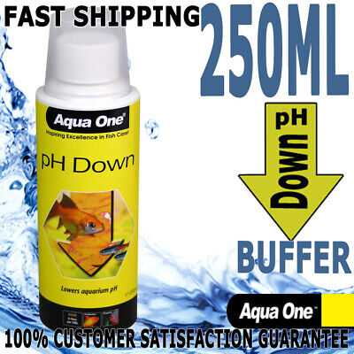 Aqua One Aquarium Fish Tank Quick Drop PH Down Liquid Buffer 250ml