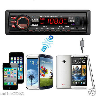 Bluetooth Car Stereo Audio Player In-Dash FM Aux Input Receiver SD USB MP3 Radio
