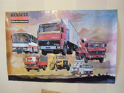 Affiche , poster  CAMIONS  , BUS ,  RENAULT  20 000 exemplaires  garages