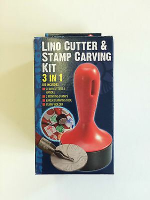 Lino Cutter & Stamp Carving Kit - 3 in 1