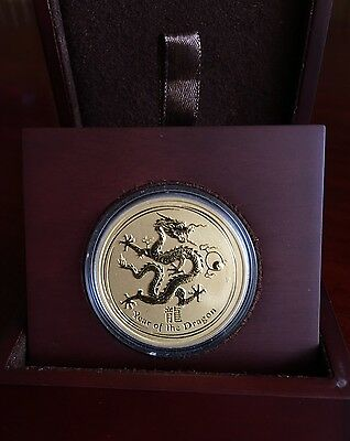 RARE 2012 Australian Perth Mint $200 Lunar Year DRAGON 2 oz Gold Series 2 LAST 1