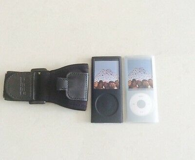iPod Nano 4G 4th Gen Sports Armband Case Cover Skin Twin Pack BRAND NEW