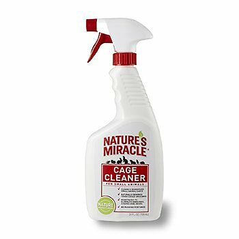 Nature Miracle Small Animal Cage Cleaner Spray Cleaning and Deodorizes Safe 24z