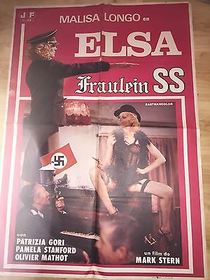 Elsa Fraulein SS - 1977/78 Original Spanish Film Poster - Nazisploitation