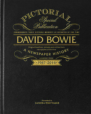 Personalised David Bowie Pictorial Edition Newspaper Book Christmas Gift