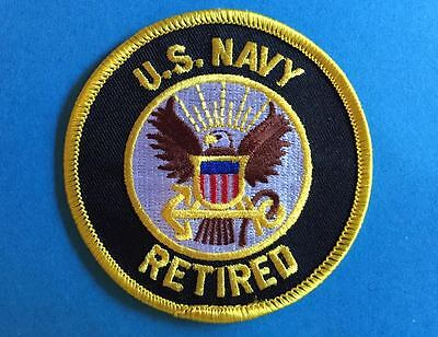 US United States Navy Retired Iron On Jacket Hat Hoodie Patch Crest