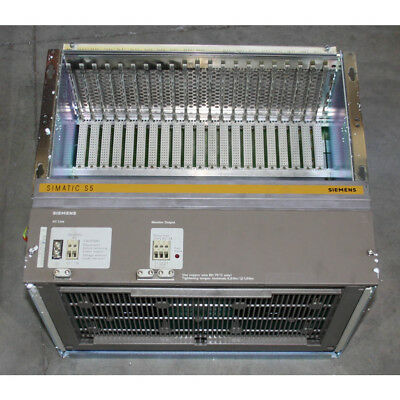 Siemens 6ES5184-3UA11 Expansion Rack/Chassis for EU 184 - New Surplus Open