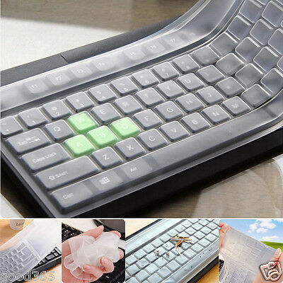 Universal Silicone Desktop Computer Keyboard Cover Clear Skin Protector Film 1PC