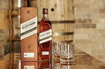 2 x Johnnie Walker Scotch Select Casks Rye Finish Aged 10 Years Limited Release
