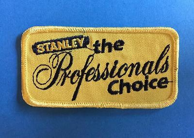Rare Vintage 1980's Stanley Tools Work Iron On Hat Jacket Patch Crest
