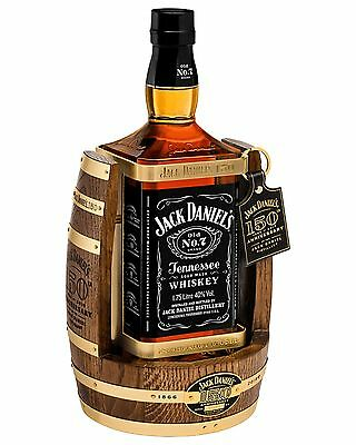 Jack Daniels Old No.7 150th Anniversary Tennessee Whiskey & Cradle 1.75L Number