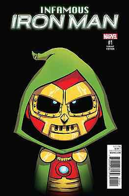 Infamous Iron Man 1 Skottie Young Baby Variant Nm