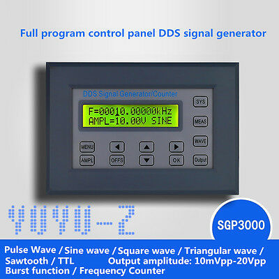 SGP30xx Series 2-20Mhz Panel DDS Function Signal Generator Multi Waveform SFA