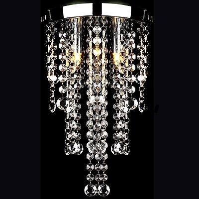 New 3 Light Modern Metal Ceiling Lamp Crystal Pendant Hanging Chandelier French