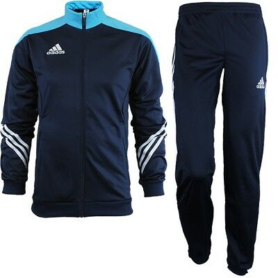 Adidas Sereno 14 men's track suit blue/white jogging sports training NEW