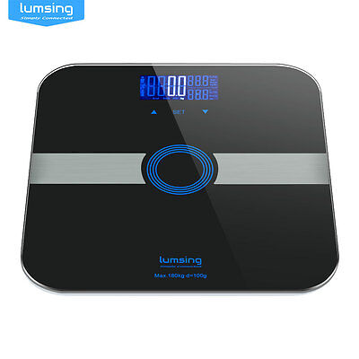 Digital Body Fat Scale Bathroom Scales Gym Weight Glass BMI Water LCD Electronic
