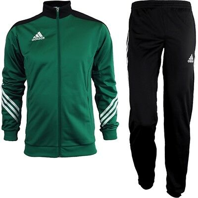 Adidas Sereno 14 men's track suit green/white/black jogging sports training NEW