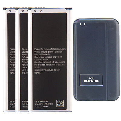 New 3220mAh Battery + Cradle Wall Charger for Samsung Galaxy Note 4 AT&T Verizon