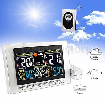 Wireless Digital LCD Weather Station Senor Calendar Hygrometer Thermometer Meter