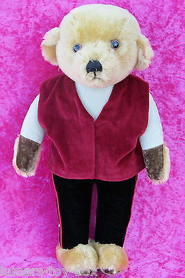 "Vintage Merrythought 16"" Mohair Teddy Bear Soft Plush Toy Made For Harrods"