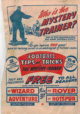 WIZARD/ROVER/ADVENTURE/HOTSPUR COMIC 1960s flyer 'The Rosebud RIng'