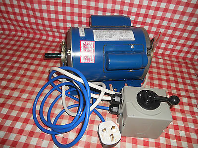 New Pre wired 240 V 1 HP motor & switch Super 7 & ML7R lathe from myford-stuff