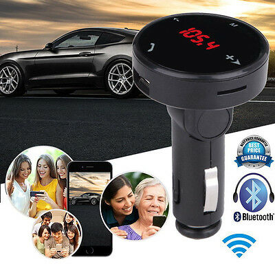 Bluetooth Wireless LCD Car MP3 Player FM Transmitter Remote SD USB Charger Kit