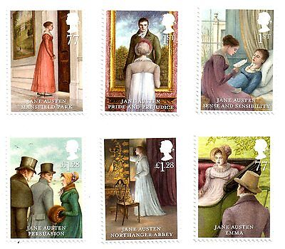 SG3431 / 36 2013 Jane Austen Unmounted Mint Set