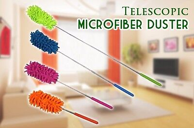Microfiber Duster Telescopic Cleaner Cloth Metal Soft Home Office Car Caravan AA