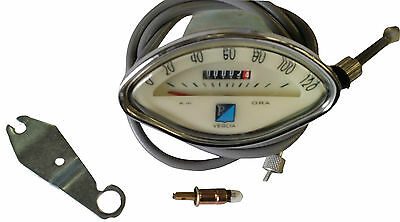 ukscooters VESPA CLAMSHELL SPEEDO 120KM WITH FREE CABLE VBB SPRINT NEW