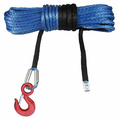 100ft 30M 10mm Synthetic Winch Rope with Hook Wire UHMWPE SK75 4x4