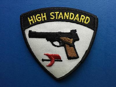 Rare Vintage High Standard Firearms Biker Hunting Vest Patch Crest Gun Rifle