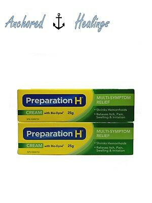 *FREE SHIPPING USA* PACK of 2 Preparation H Cream with Bio Dyne 25g Exp.01/2019
