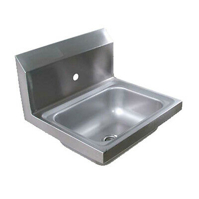 "John Boos PBHS-W-1410-1 Wall Mount Hand Sink 14""x10""x5"" w/ One Faucet Hole"