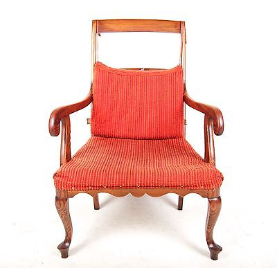 Antique Vintage Oak Chair Lounge Fireside Armchair Vintage Writing Desk Chair