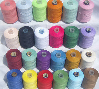 25 Spools of 100% Polyester Sewing All Purpose Thread - 1000 Yards Each Spool