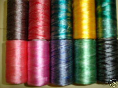 10 Double Shaded machine silk art embroidery threads Spools 10 Different Colours